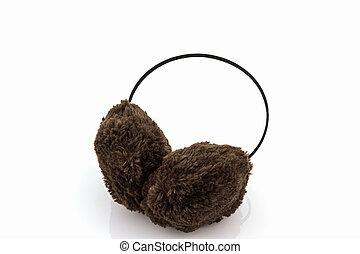 Brown fuzzy winter ear muff. - Brown fuzzy winter ear muff...