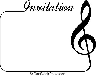 Invitation card for music performance