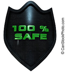 100 percent secure - security concept 3d rendering with...