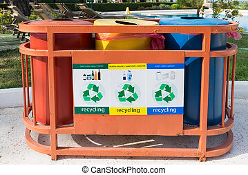 Garbage containers for separate waste collection - Garbage...