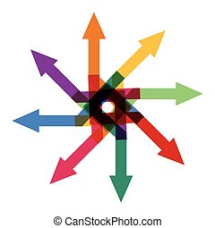 Abstract  arrows sign