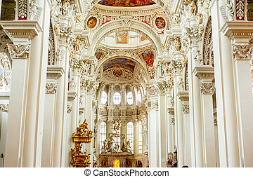 Passau Cathedral Altar - Altar at St. Stephen's Cathedral in...