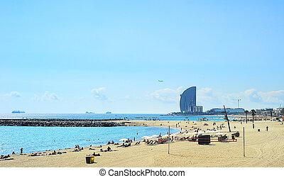 Barcelona, Plaża,