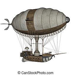 Hot air balloon - 3D render - Vintage hot air balloon...