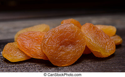dried apricots - Heap of dried apricots on the table