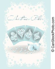 Christmas casino invitation banner, vector