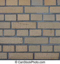 brickwall - a yellow brickwall from an industry building