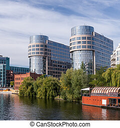 bmi berlin - bundesministerium des innern near the spree on...