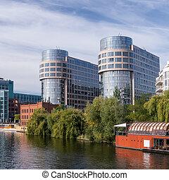 bmi berlin - bundesministerium des innern near the spree on...