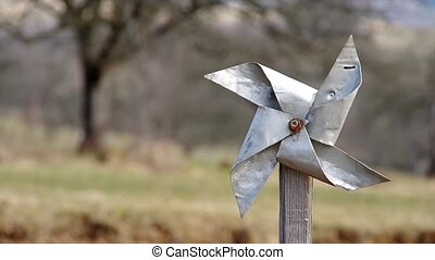Pinwheel from sheet - Homemade pinwheel of sheet metal is...