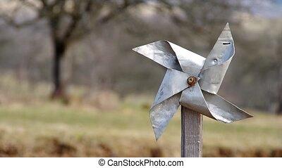Pinwheel from sheet - Homemade pinwheel of sheet metal is...
