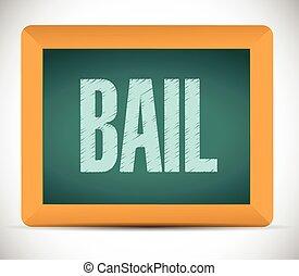 bail board sign illustration design