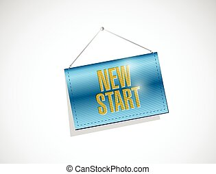 new start banner illustration design