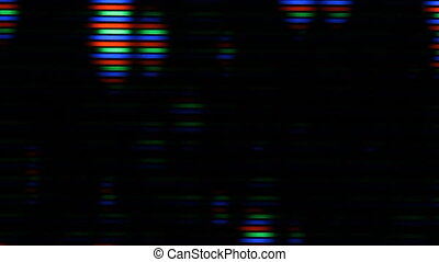 Static on TV. Macro shot. - TV with static. Macro shot shows...