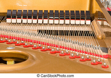 Inside Baby Grand Piano - Inside a baby grand piano