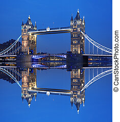 Famous Tower Bridge in London, England