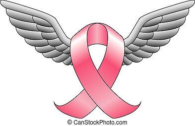 Ribbon With Wings - Illustration of a ribbon such as the...