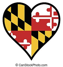 Love Maryland - Maryland state flag within a heart all over...