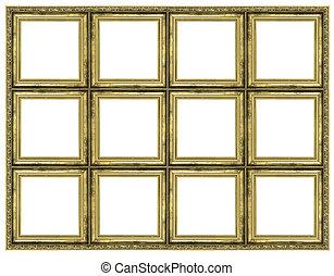 Huge golden frame