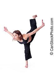 Kungfu Girl - Lady in Black doing Wu dang Kungfu