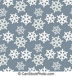 Vector seamless pattern with colorful snowflakes