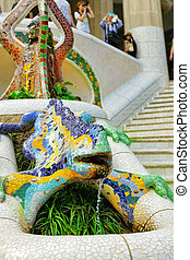 BARCELONA, SPAIN - SEPT 02,2014 :Gorgeous and amazing Park...