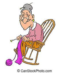 Illustrations et cliparts de grannie 219 dessins et - Sedia a dondolo disegno ...