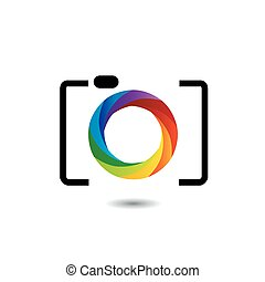 rainbow colored photography logo - rainbow colored...