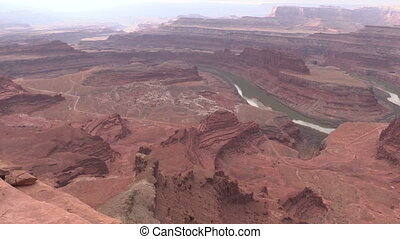 Dead Horse Point Utah - a pan of scenic dead horse point...