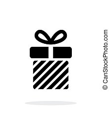 Striped gift box icons on white background. Vector...