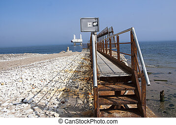 Gangway to the platform