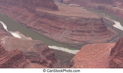 Dead Horse Point Utah - a zoom out of scenic dead horse...