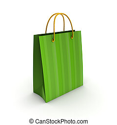 3d rendered plastic bag. - 3d rendered plastic bag isolated...