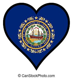 Love New Hampshire - New Hampshire state flag within a heart...