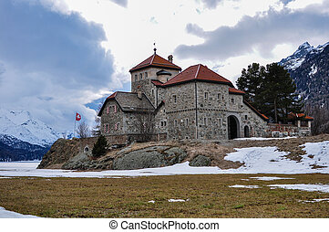 castle of Silvaplana - The castle of Silvaplana in Engadin...