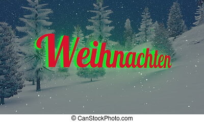 Animated Weihnachten text - German Christmas Weihnachten...