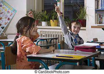 Children at school - appear - Life at school - first class -...