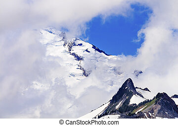 Mount Baker Under Clouds from Artist Point Washington State