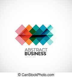 Square concept, company logo design element. Colorful modern...