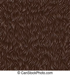 fur pattern - Vector seamless pattern of animal fur