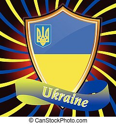 Ukrainian flag. - Europe, Corporation, Logo, Symbol,...