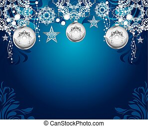 Silvery Christmas toys. Background - Silvery Christmas toys...