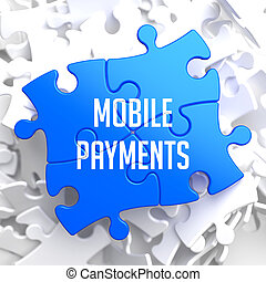 Mobile Payments on Blue Puzzle - Mobile Payments on Blue...