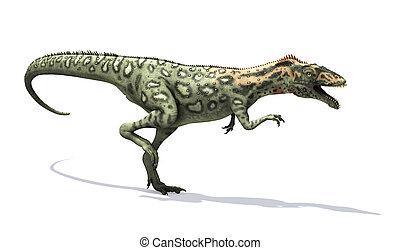 Masiakasaurus Dinosaur Running - The Masiakasaurus was a...