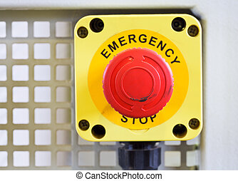 emergency stop button - red emergency stop push button close...