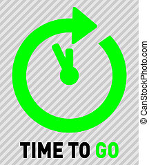 Time to GO - Green vector icons time to go
