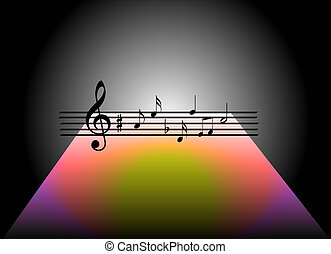 Music theme - Black a colors background abstract...