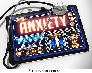 Anxiety on the Display of Medical Tablet. - Anxiety -...