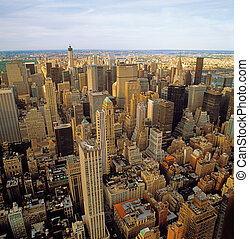 Aerial view of NYC. - Aerial view of New York City from the...