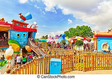 PORT-AVENTURA, SPAIN - SEPT, 06:Amusement park in Spain near...